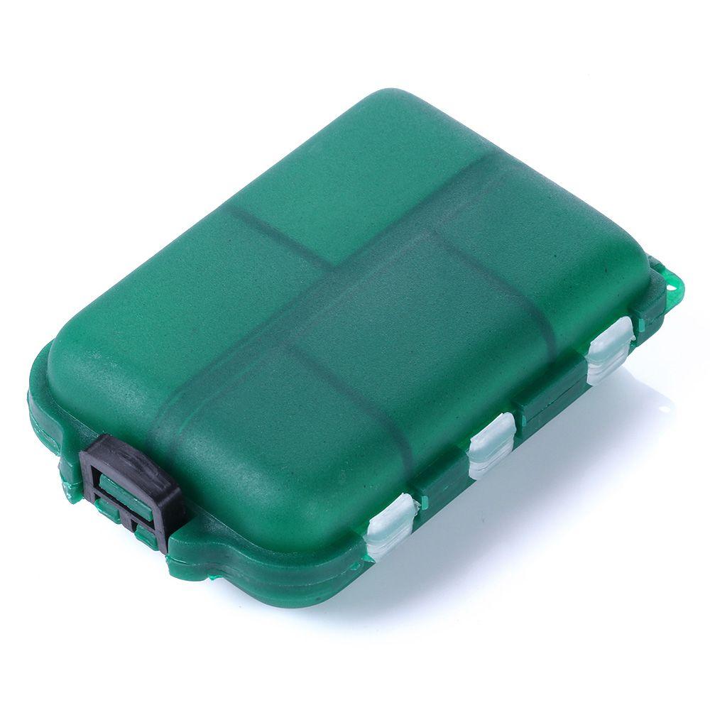 HENGJIA зеленый 10 отсек симпатичные рыболовные приманки снасти кейс для хранения коробка нахлыстом ложка крюк приманки 95 мм * 65 мм*30 мм 41 г бесплатно shippin