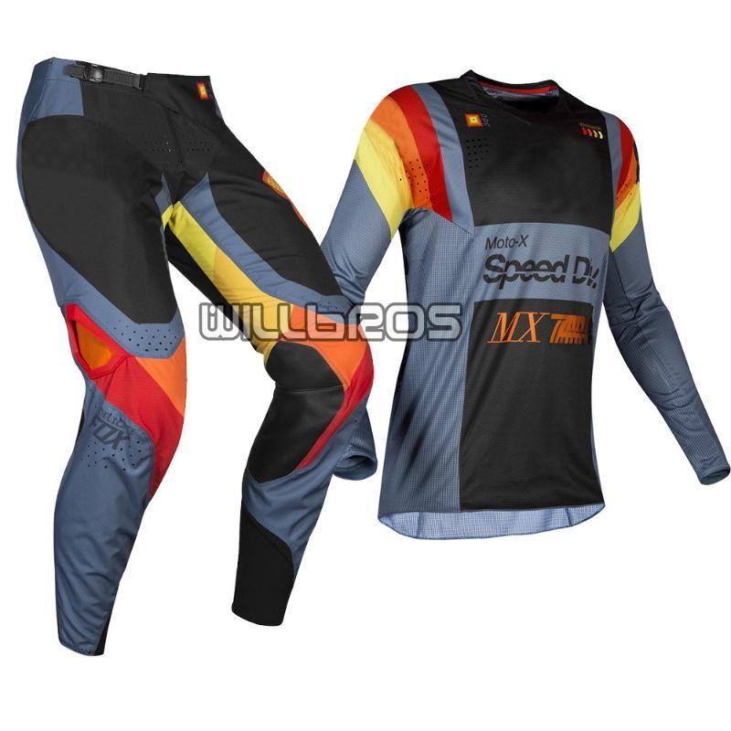 Delicate 2019 MX 360 Murc Blue Steel Jersey Pants Adult Motorcycle ATV Bike Riding Gear Set Moto Kit