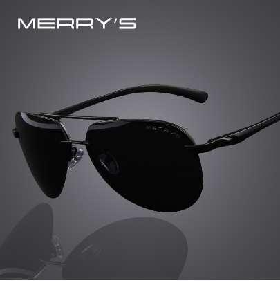 MERRYS Hombres de la marca 100% polarizados gafas de sol de aleación de aluminio del marco de moda para hombre que conducen las gafas de sol S8281