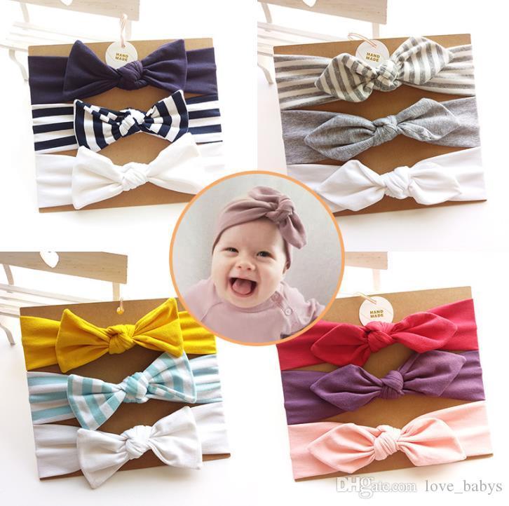 18 colores europeos y americanos bebé arco diadema algodón niña elegante cintas para el cabello cintas para el cabello accesorios