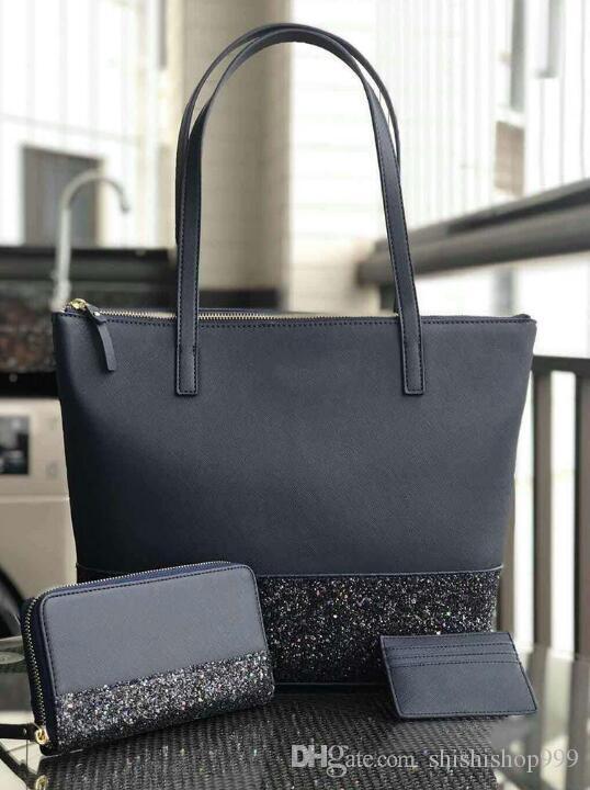 Las mujeres diseñador de la marca bolso grande brillo resplandeciente set remiendo bolsas de la compra crossbody hombro de la PU del bolso de totalizadores de las mujeres bolsos de marca de pala