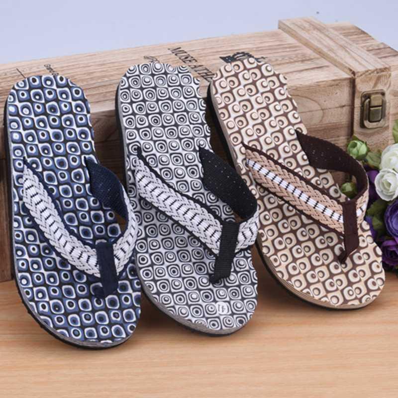 2020 Slippers Men Home Summer Comfortable Massage Flip Flops Shoes Sandals Male Slipper Indoor & Outdoor Flip-flop Flat Shoes