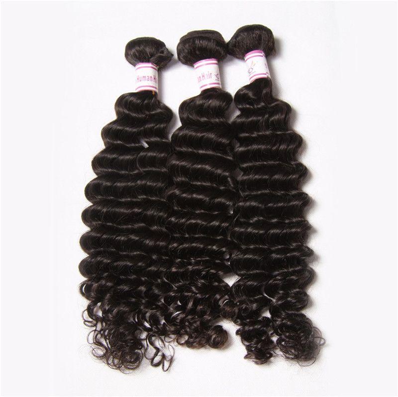 BÜYÜK İNDIRIM% 30% Remy saç Örgüleri Atkı Hint Derin Dalga Bakire Saç Üst Sınıf Bakire Hint doğal Dalga Derin Dalgalı İnsan Saç Uzatma
