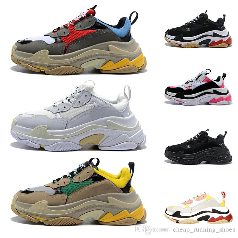 Triple S Casual Shoes Paris 17FW Low Old Dad Sneaker Combination Soles Boots Mens Womens Fashion High Top Quality des chaussures Size 36-45