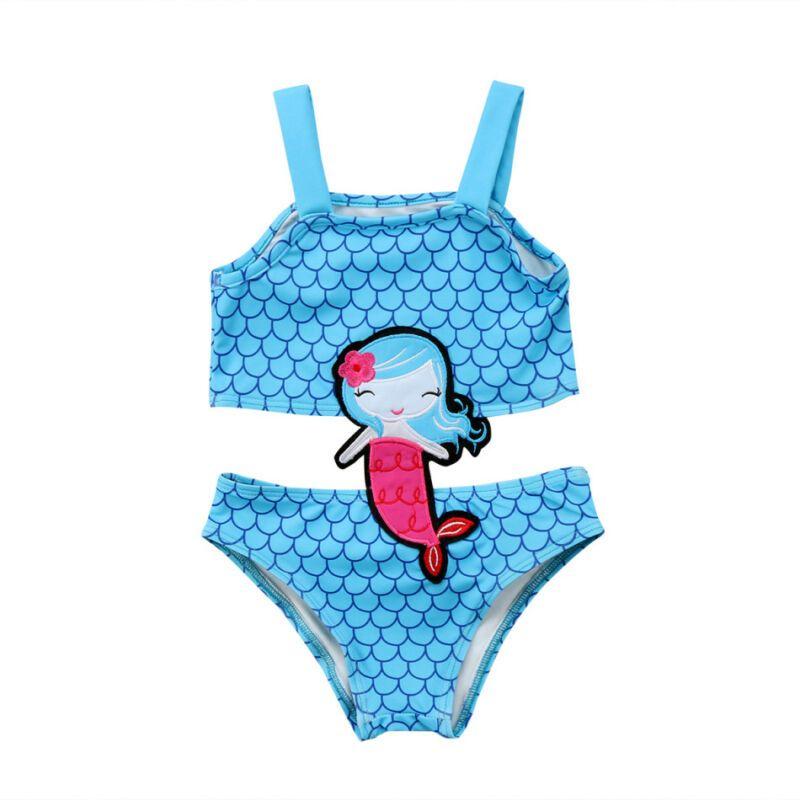 Summer Baby Girls Mermaid maillot de bain Bikini Fashion Toddler Enfants Maillots de bain Beachwear une seule pièce ensemble tankini