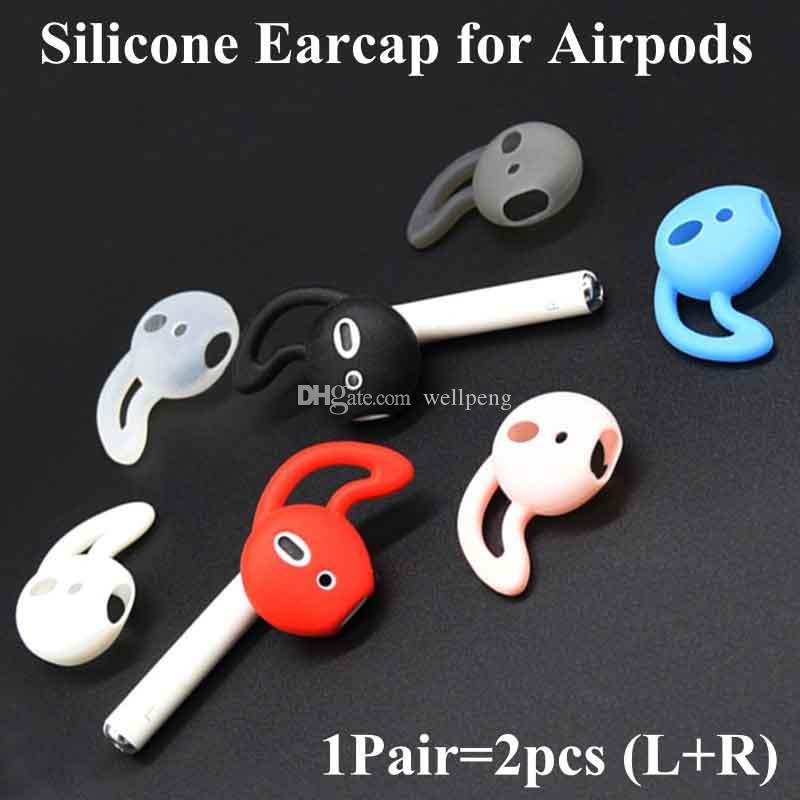 Para Airpods tapón consejos casquillo del oído de audición de silicona geles cubren con gancho de ala para el deporte auricular timbaúva eartips Eargels gancho para la oreja