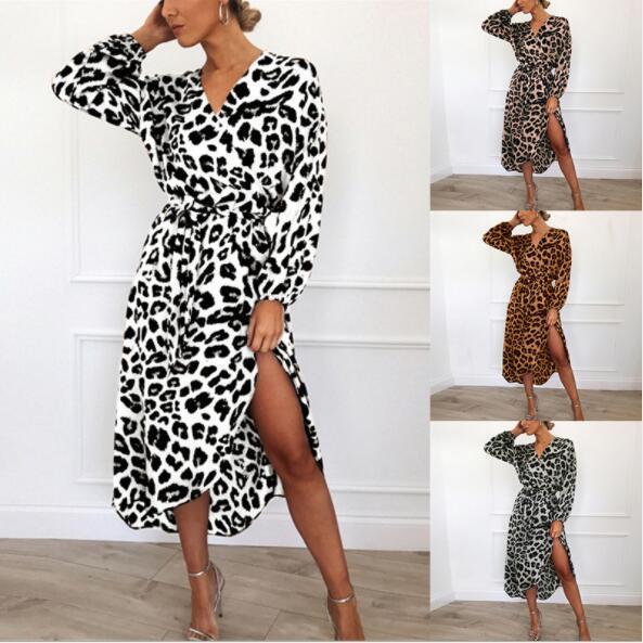 Kadınlar Için toptan Yaz Elbiseler Günlük Elbiseler Sonbahar Uzun Kollu Kadın Etekler Yeni Moda Plaj Elbiseleri Giyim 4 Stilleri S-2XL