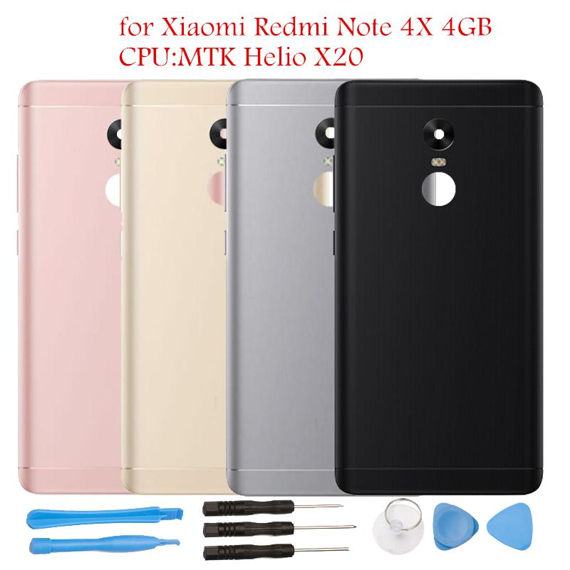 for Xiaomi Redmi Note 4X 4GB MTK Helio X20 Battery Back Cover Rear Cover Housing Door Side Key Camera Glass Repair Spare Parts