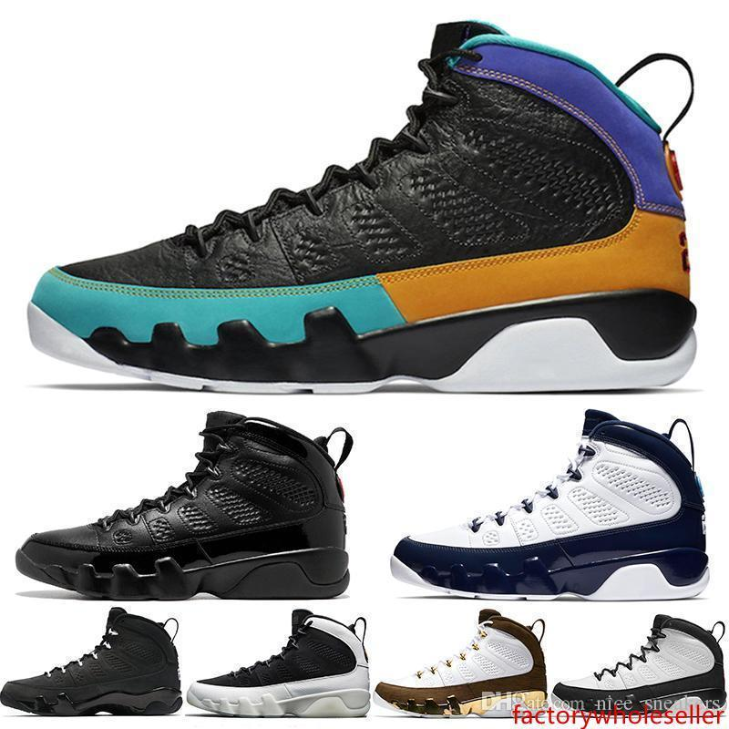 9 9s Basketball Chaussures Hommes Unc Dream It Do It Bred La Oreo Marine Blue Tour Jaune Hommes Sport Baskets Sneakers Taille 41-47