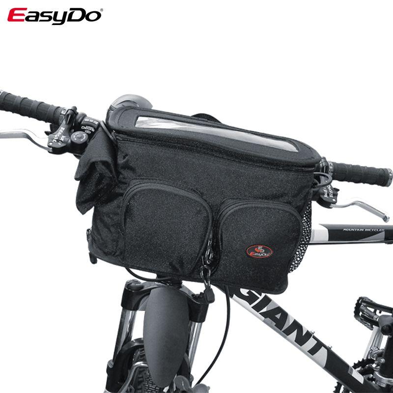 Waterproof Bike Front Handlebar Bag Cycling Bicycle Frame Tube Pocket Bag Gray Bags Panniers