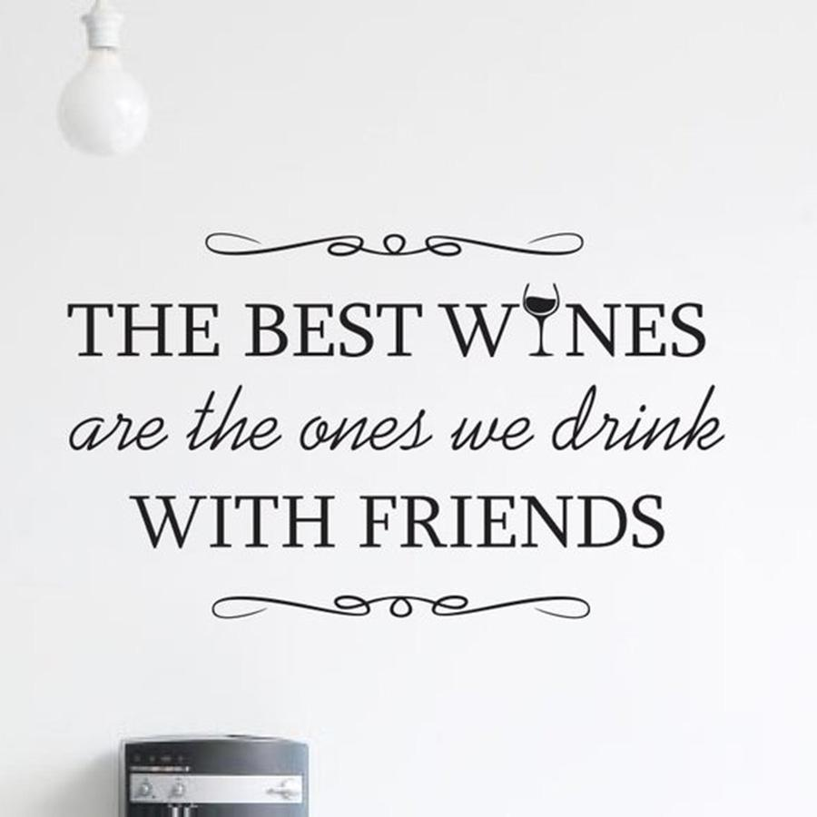 the best wines decal drinks quote home decor decals quotes wine