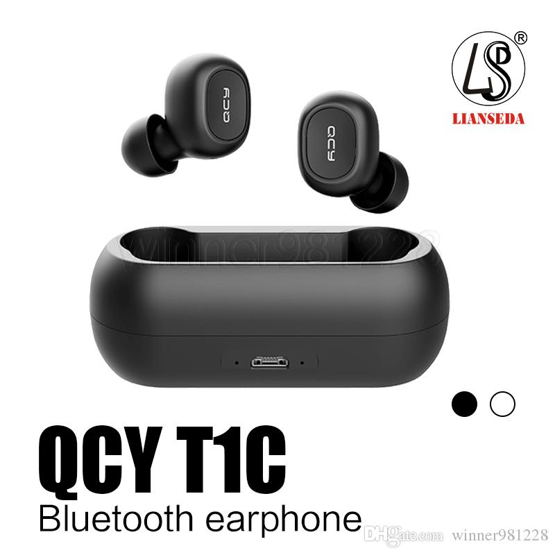 QCY T1C Earphones Wireless Bluetooth Headphones v5.0 Earbuds with Charging Case Bass Stereo mini Wireless Earphones