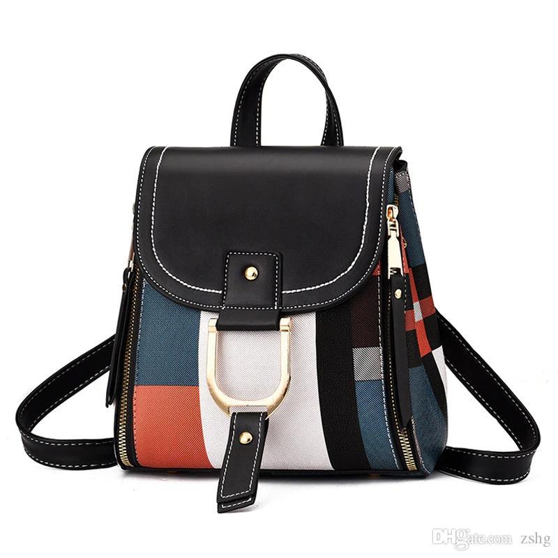 2020 New High Quality PU Leather Women Backpack Bag Shoulder School Bag for Girls Teenage Multi-use Daypack Knapsack Hand Bag Crossbody