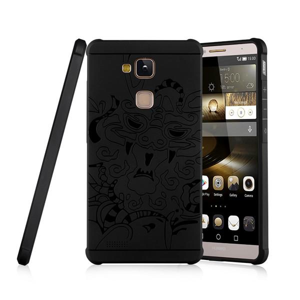 3D Relief TPU Case For Huawei Ascend Mate 7 Mate7 MT7 TL00 MT7 ...