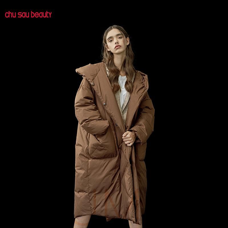 donne outwear soprabiti parka delle donne calde addensare invernali con cappuccio cappotti giacche signore casuali parka femminile lungo più DT191024 dimensioni