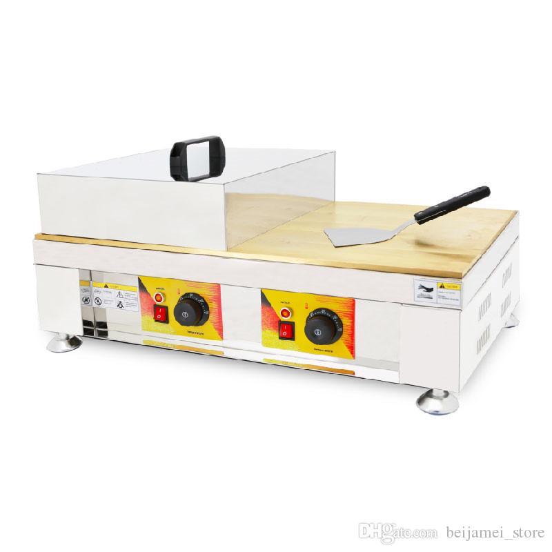 베이 다이 메이 전기 자동 와플 메이커 기계 110V 220V 상업 짙은 머핀 팬케이크 기계 스낵 장비 용