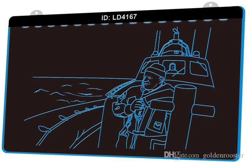 Segno chiaro Incisione LED LD4167 Big Ship Sketch nuovo 3D Personalizza on Demand multipla di colore