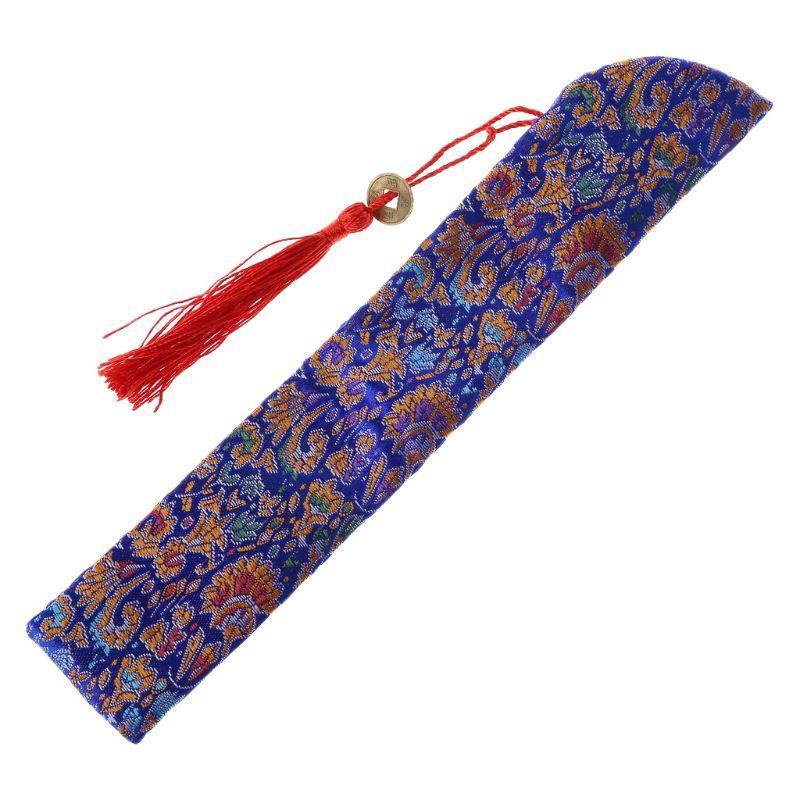 Supporto piegante di seta cinese Fan mano Borsa con nappa antipolvere Protector sacchetto della copertura della cassa Retro Style K1MF