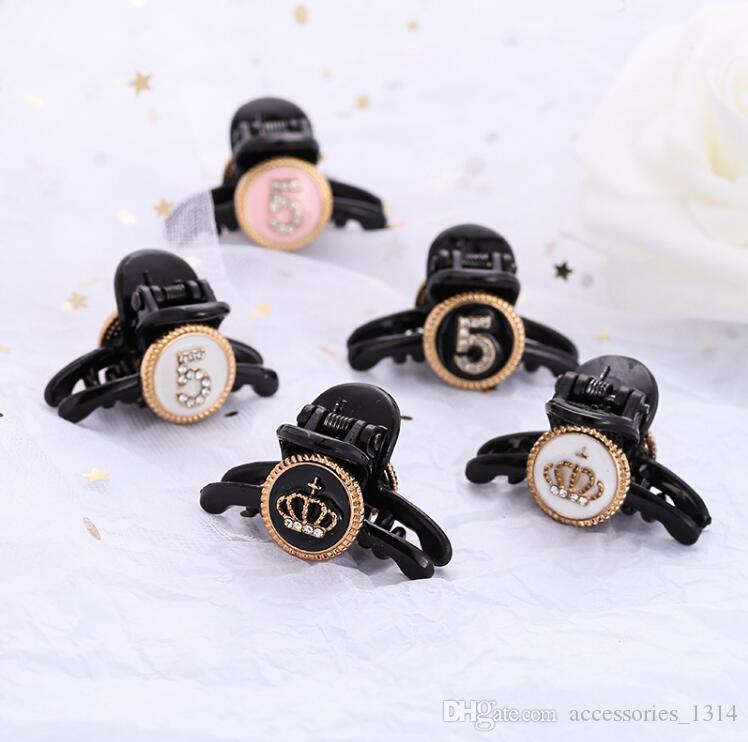 Heißes neues Produkt Tag Korea Dongdaemun mini Haar fangen kleine Legierung Nummer 5 Krone Liu Meer Clip oben Clip Kopfbedeckungen