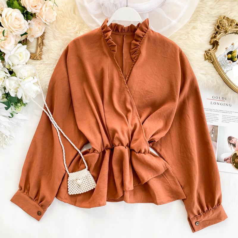 2019 Новой мода женской одежды осень рубашка одежда женской топы и блузки