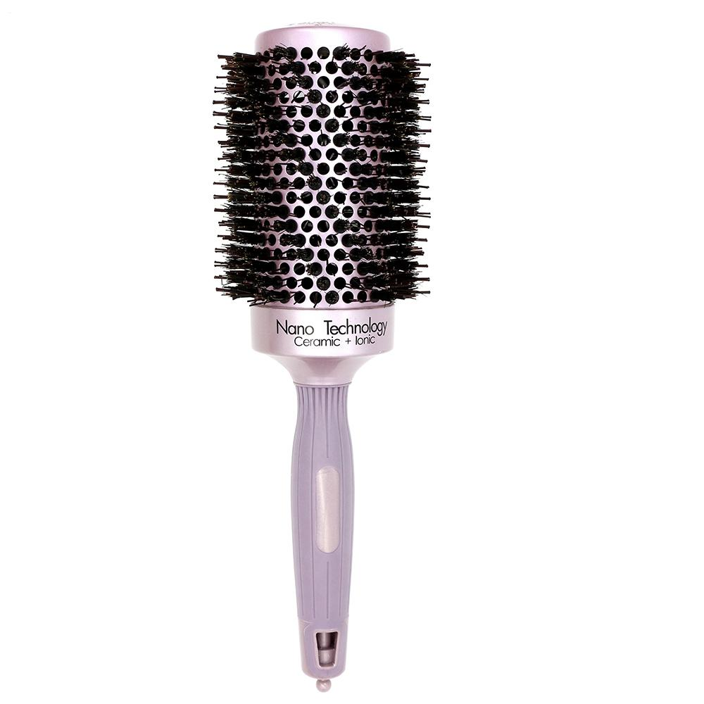 High Quality Hairdresser Brush Alunimun Barrel Hair Ceramic Round Comb With Boar Bristle Ionic Curling Brush Barber Comb 4 Size T10190613