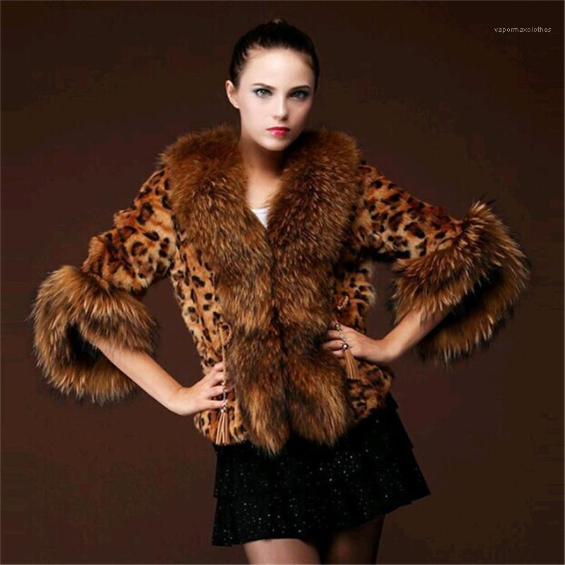 Fur Coats inverno espessamento Quente Ladies Raccoon Grosso Casacos Casual manga comprida Mulheres Roupa Mulheres Desigenr Faux