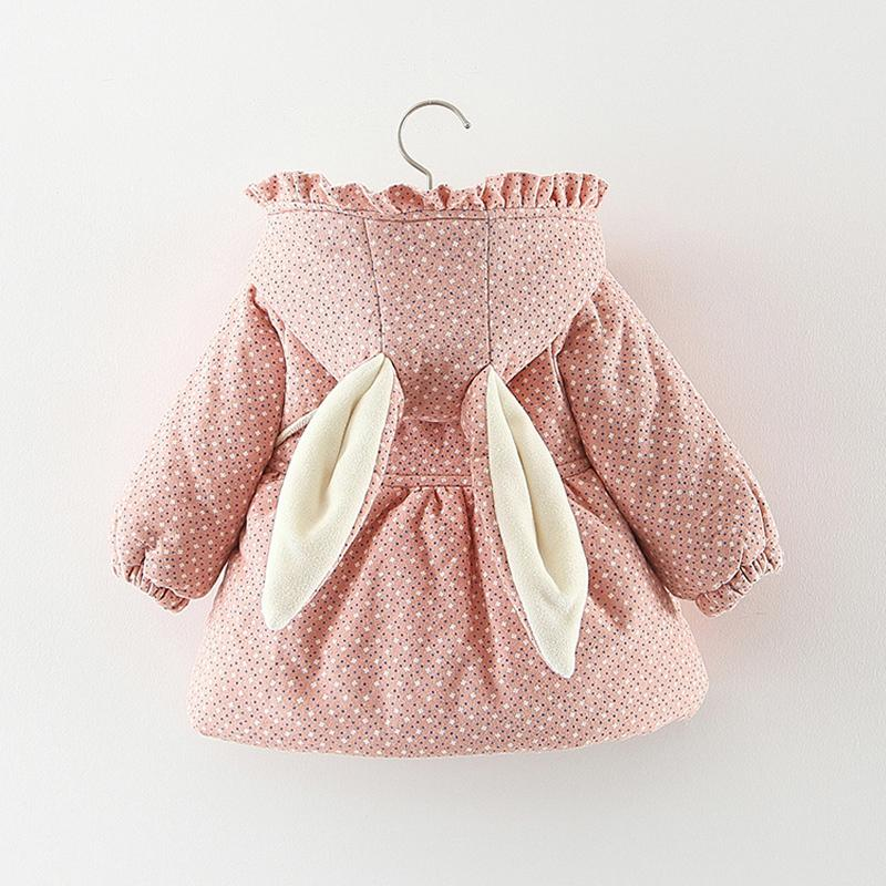 Otoño Invierno chaquetas con capucha Trajes de trabajo para recién nacido caliente muchacha de la manera Prendas de abrigo Bebé abajo cubre la ropa de algodón T191212