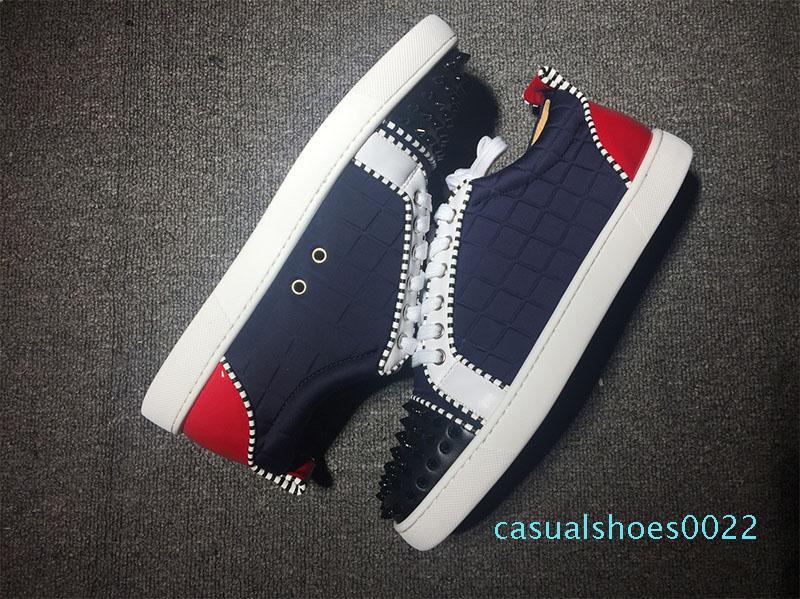 marka lüks tasarımcı düşük moda çivili ani daire gündelik alt spor ayakkabıları zapatillas des chaussures c22 kırmızı dipleri ayakkabı mens