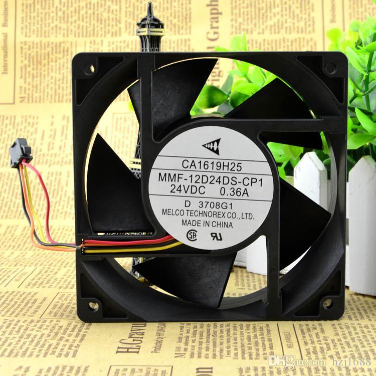 미츠비시 A740 인버터 냉각 팬 CA1619H01 MMF 12D24DS-24V-RP1에 0.36A의 3800rpm의 15.32cfm 12,038 12CM 4 라인