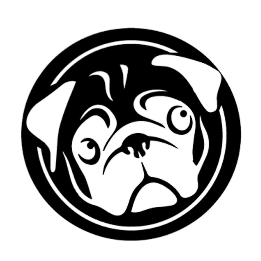 Pug Life Dog window sticker decal in white popular