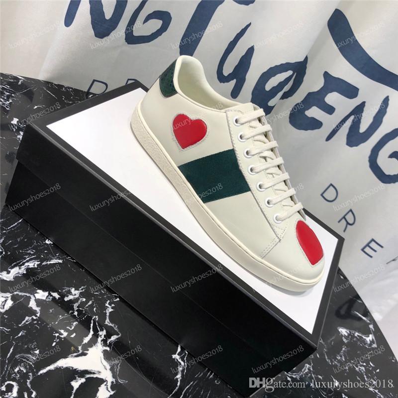 Homens Mulheres Casual Shoes Sapatilhas de couro Ace Abelha Listras sapatos de caminhada Lazer Trainers Sneakers Chaussures Drop Shipping