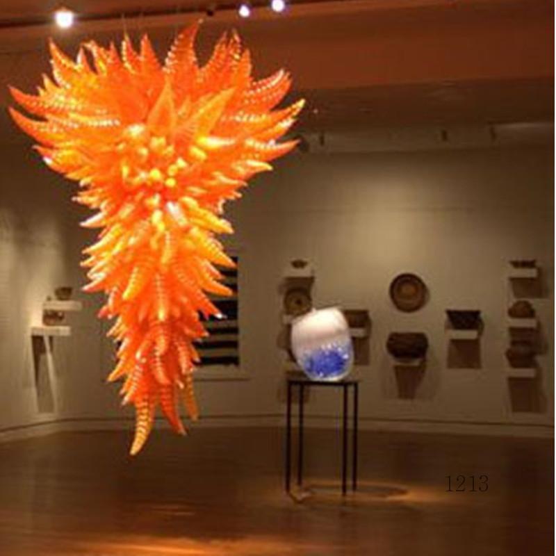 Amerikanischer Luxus Lange LED-Kristallleuchter-Licht Große Gold-Anhänger Glascrystal Kronleuchter Lampe für Hotel Lobby Villa Bauprojekt