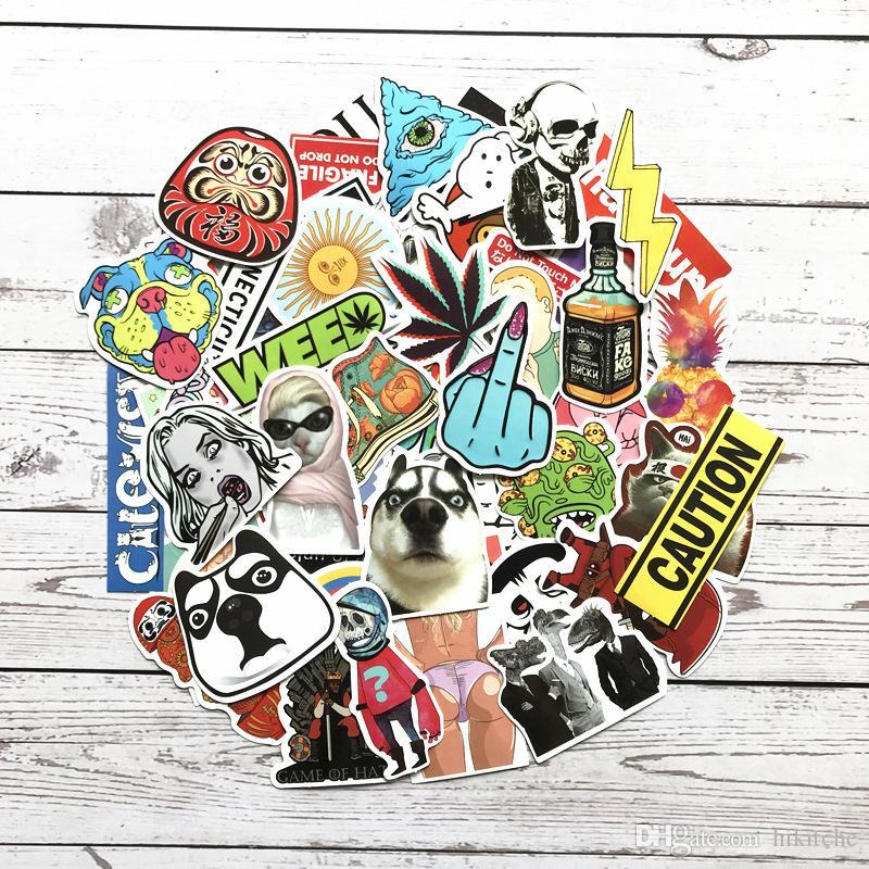 Hot Random Cool JDM Skateboard Guitar Travel Case DIY sticker colorful Car Cute decal fashion funny sticker 1000 pieces