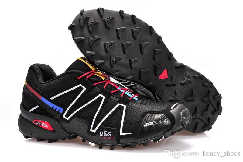 Acquista Salomon Speedcross 3 4 2019 Speedcross 4 IV CS Trail Running Shoes Uomo Donna Viola Rosa Speed Cross Outdoor Escursionismo Sport Atletico