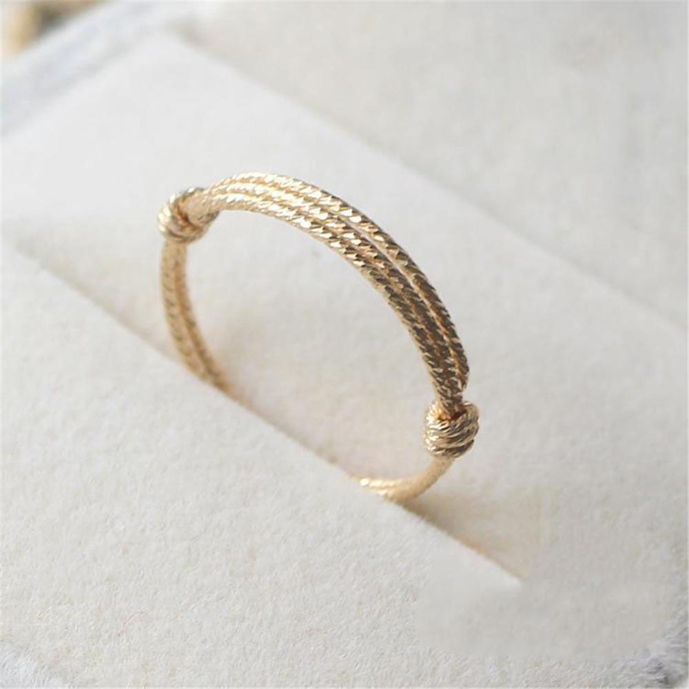Кольца ручной работы на заказ 14 золотых заполнены персонализированные Joyas подарок на день рождения Bague Anillos Mujer Bague Femme кольца для женщин J190716