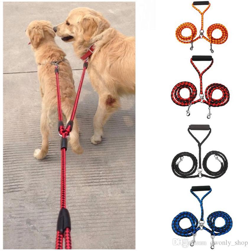 Nuevo Collar con Doble Correa para Mascotas 2 Perros 1 Conductor de Buena Venta