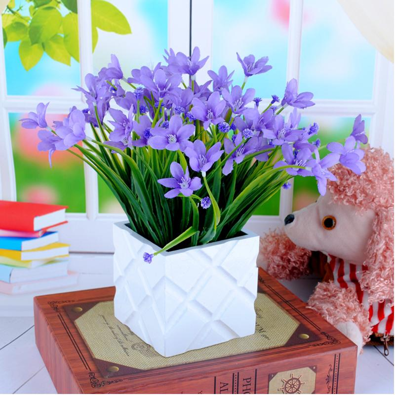 Simulation Orchid potted Artificial Flowers plant plastic Photo props fake flower home decoration