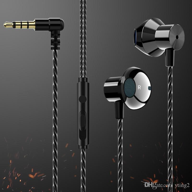 New F12 Metal Wired Headset In Ear For Mobile Computer Gaming Headset Cell Phone Earphones Dhl Free Headset For Cell Phone Mobile Phone Headset From Yting2 1 47 Dhgate Com