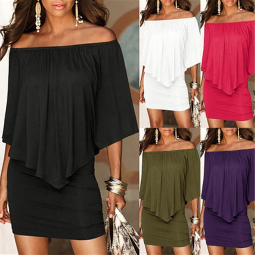 2019 primavera e l'estate nuova womenswear Europa ed il vestito vestito dal locale notturno sexy stretto senza spalline natica uno-spalla Stati Uniti moda
