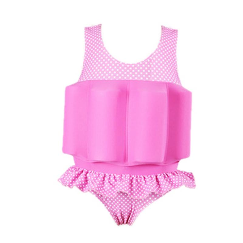Floating Swimming Suit with Buoyancy Sticks Detachable Girls Floating Training Bathing Suit Swimsuit Infant Swimwear