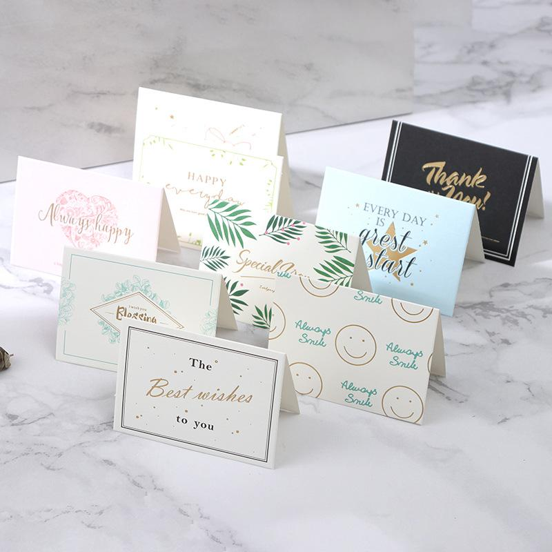 2019 Mini Greeting Card Thank You Card Valentine Happy Birthday Christmas Party Wedding Invitation Letter Greeting Cards From Newcute 32 79