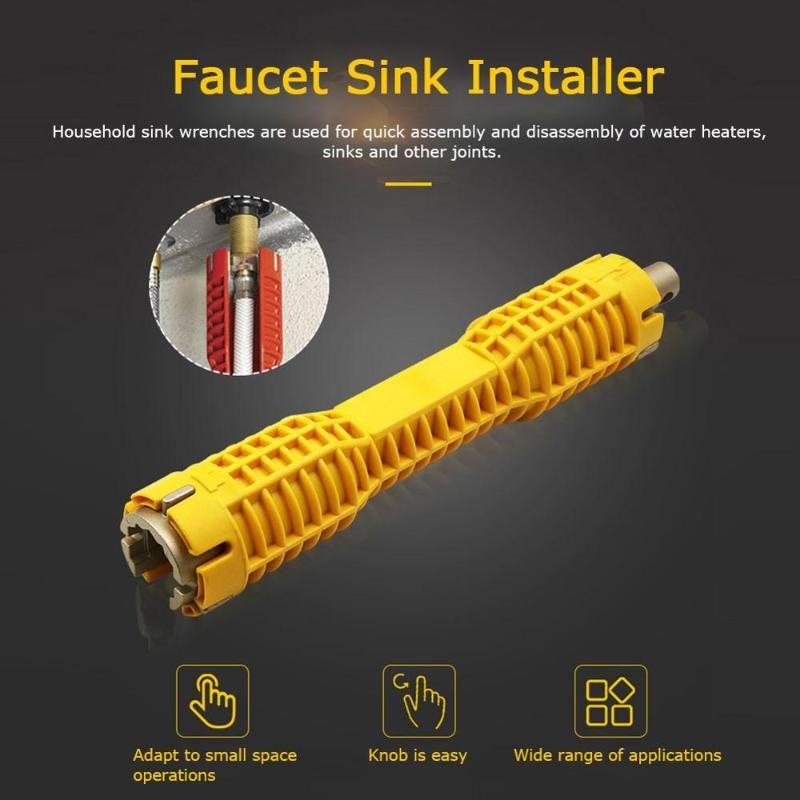 Neu! Hahn-Wannen-Installer Wasserrohr-Schlüssel-Schlüssel Extra lange Badezimmer Küche Sanitär Sink Installer Spanner Werkzeug