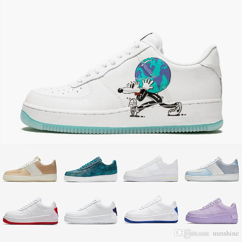 Nike Air Force 1 One Air Forces Shoes De Color Azul NUEVO Dunk 1 Zapatos  Casuales Tan Cream Para Hombre Para Mujer Verde Abismo Monopatín Zapatillas  ...