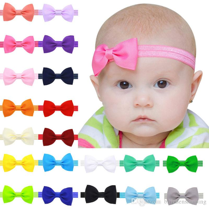 Newborn Headband Tiny Bow Headband Baby Bow Headband