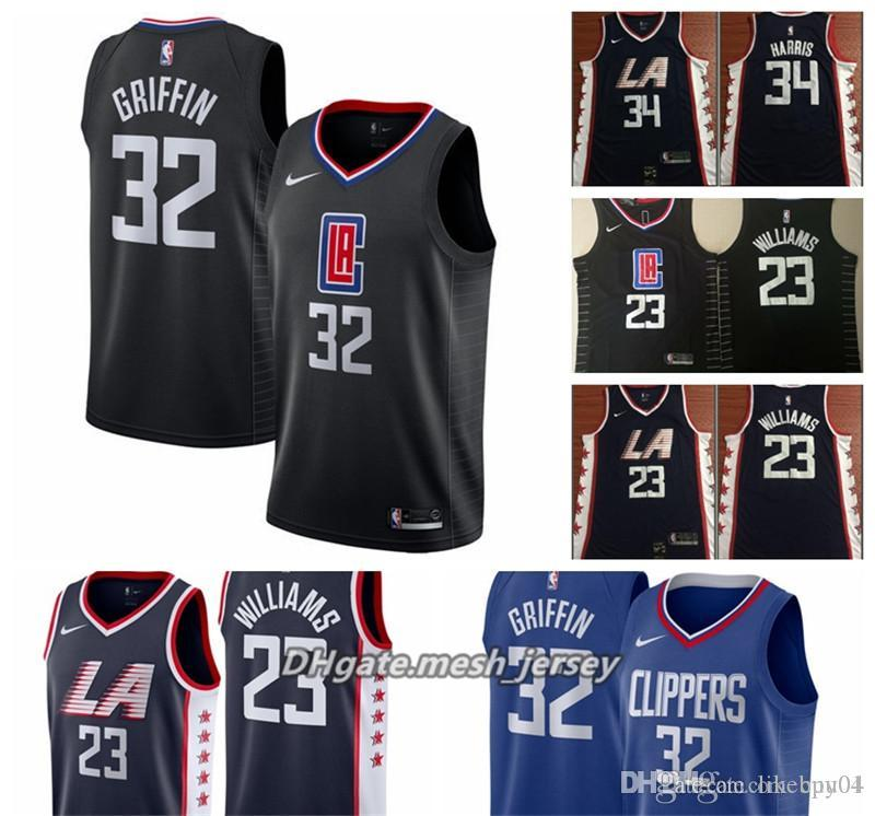 on sale de277 5c9ca 2019 Men Los Angeles Basketball Clippers Jersey 32 Blake Griffin 23 Lou  Williams 34 Paul Pierce Stitched Jerseys City Edition From Adriana_lima, ...