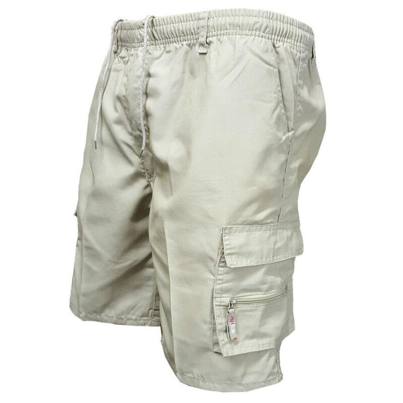 Combattimento Cargo Esercito Plain metà pantaloni casual uomini di modo Estate lavoro occasionale pantaloni beige Nero