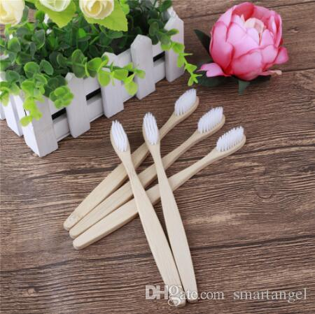 MOQ 200pcs Natural Family Bamboo Toothbrush set Soft Bristle Dental Oral Care tools Eco Friendly Travel wooden Tooth Brushes wholesale