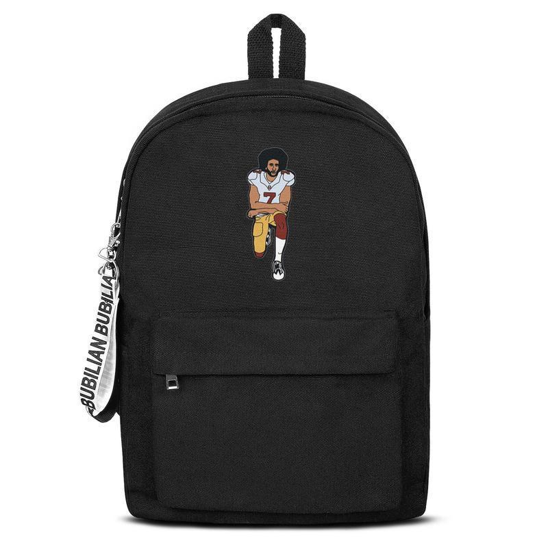 American football 7 Fist Up' Colin Kaepernick Free Shipping Women Men Canvas School Student Backpack Waterproof Travel Backpack Pri