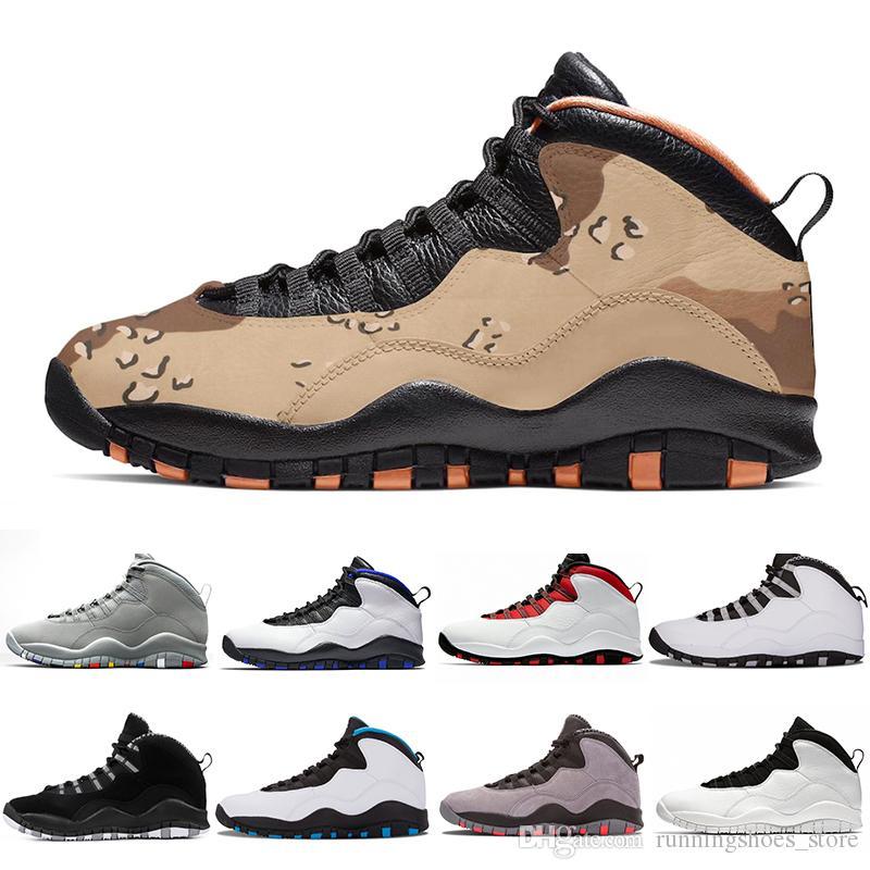 Desert Camo 10s Mens Basketball Shoes