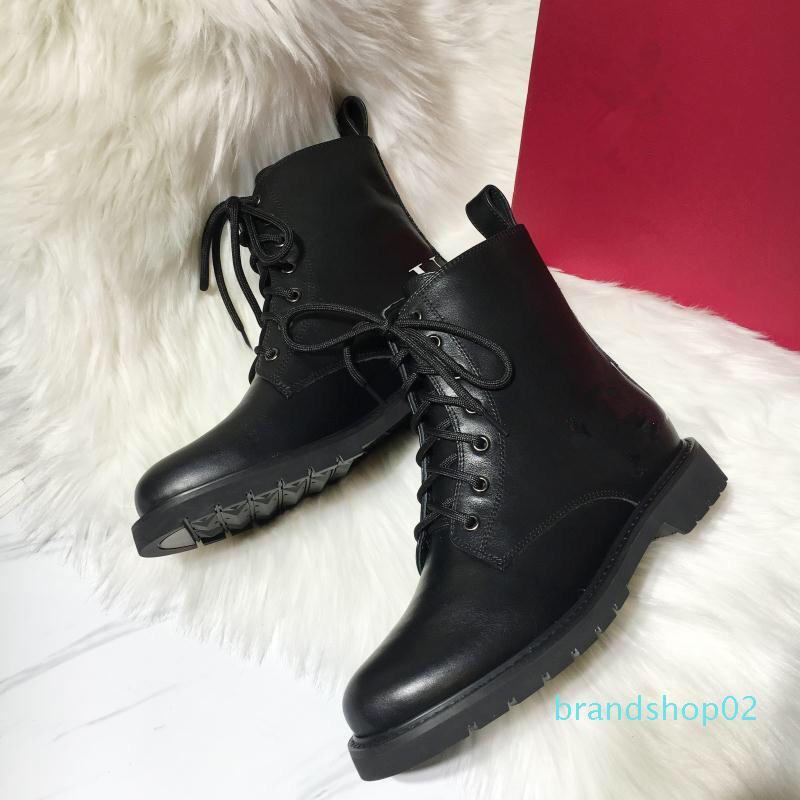 Vente-2019 Hot Hot Femmes Bottes en cuir Designer Martin Bottes Top Women Boot Designer Shoes